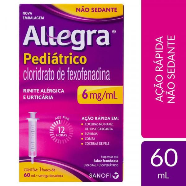 Allegra Suspensão Oral Pediátrico 6mg/ml
